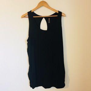 Lucy active open back black tank dress sleeveless